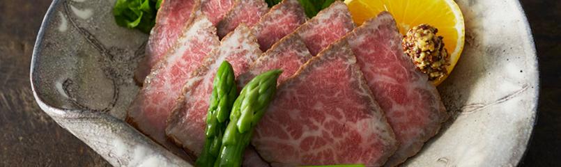 里仙特製ローストビーフ(合鴨ロース+西京味噌セット/合鴨ロース+和風セット)